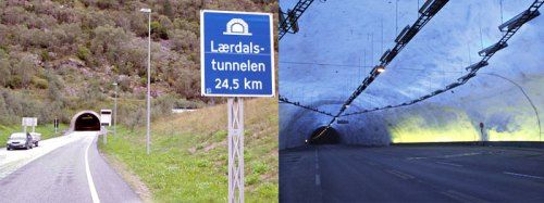 Túnel carretero de Laerdal (Noruega)